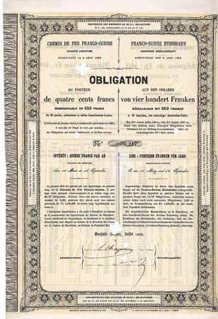 Obligation Franco Suisse