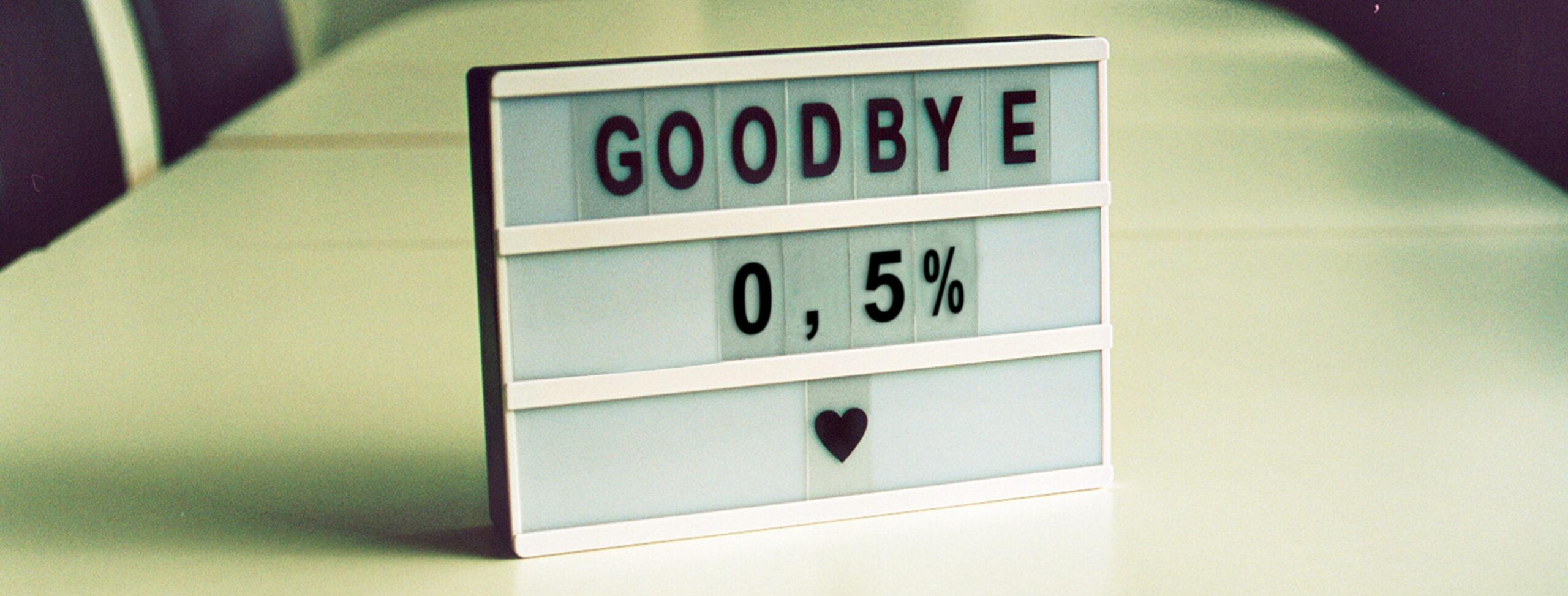 Farvel 0,5%